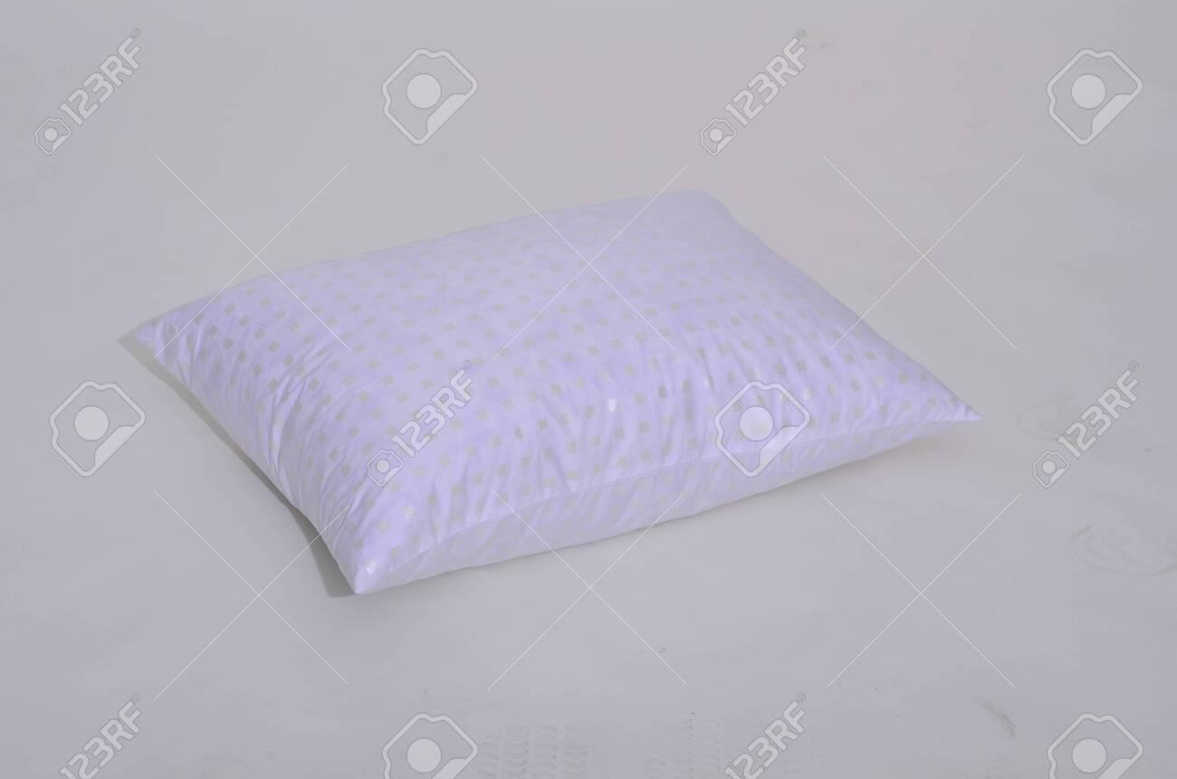 Folded white duvet cover on white isolated background. - 120033843