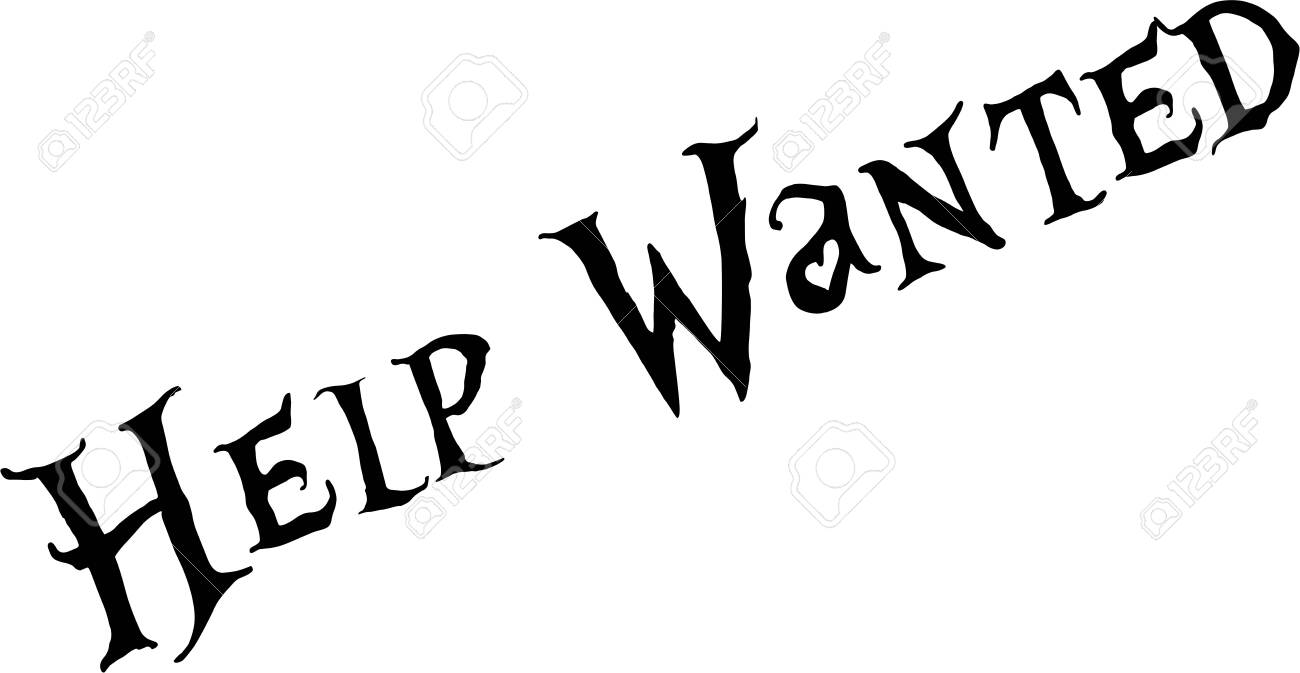 Help wanted text sign illustration on white background - 146714646