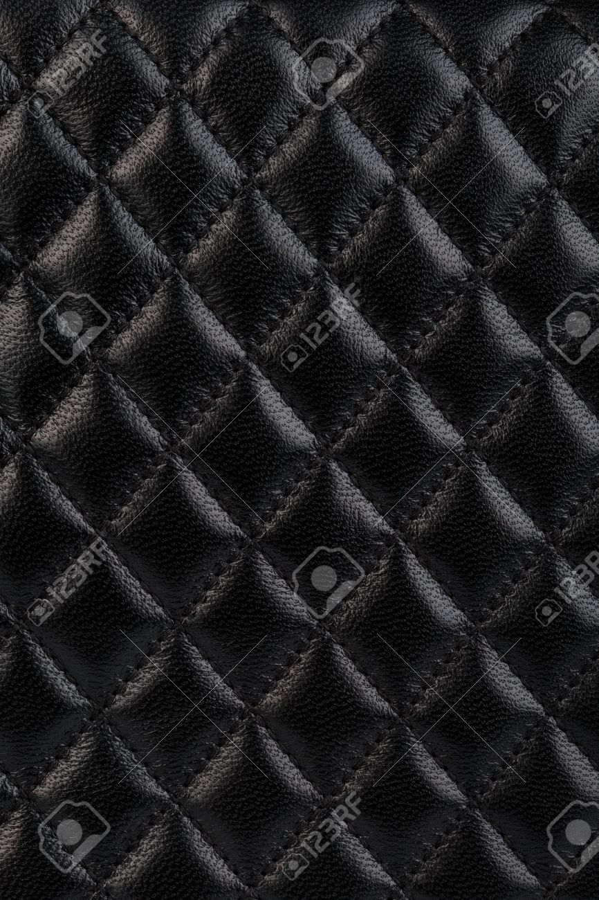 Black Quilted Leather Background Stock Photo, Picture And Royalty ... : black quilted leather - Adamdwight.com