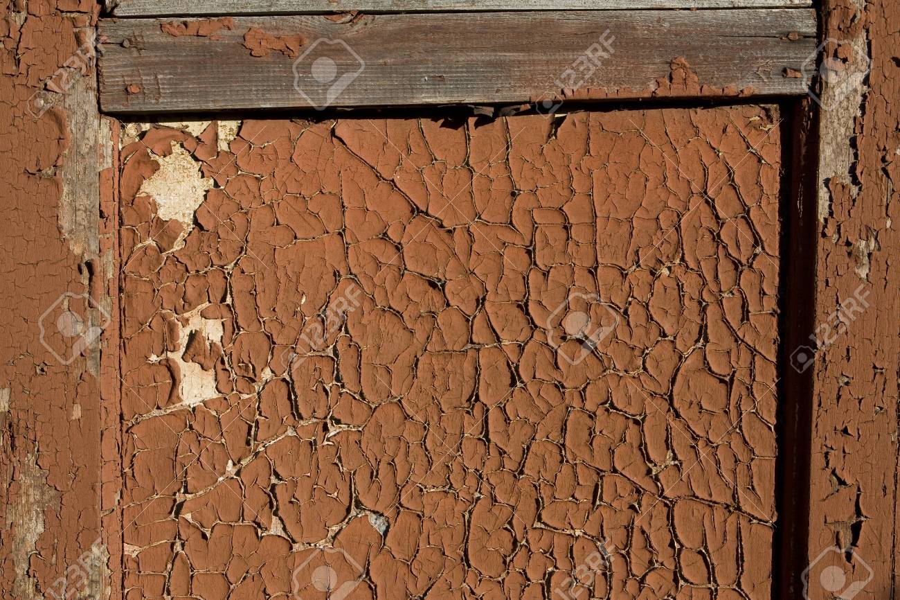 a fragment of an old wooden door with cracked paint Stock Photo - 9201827