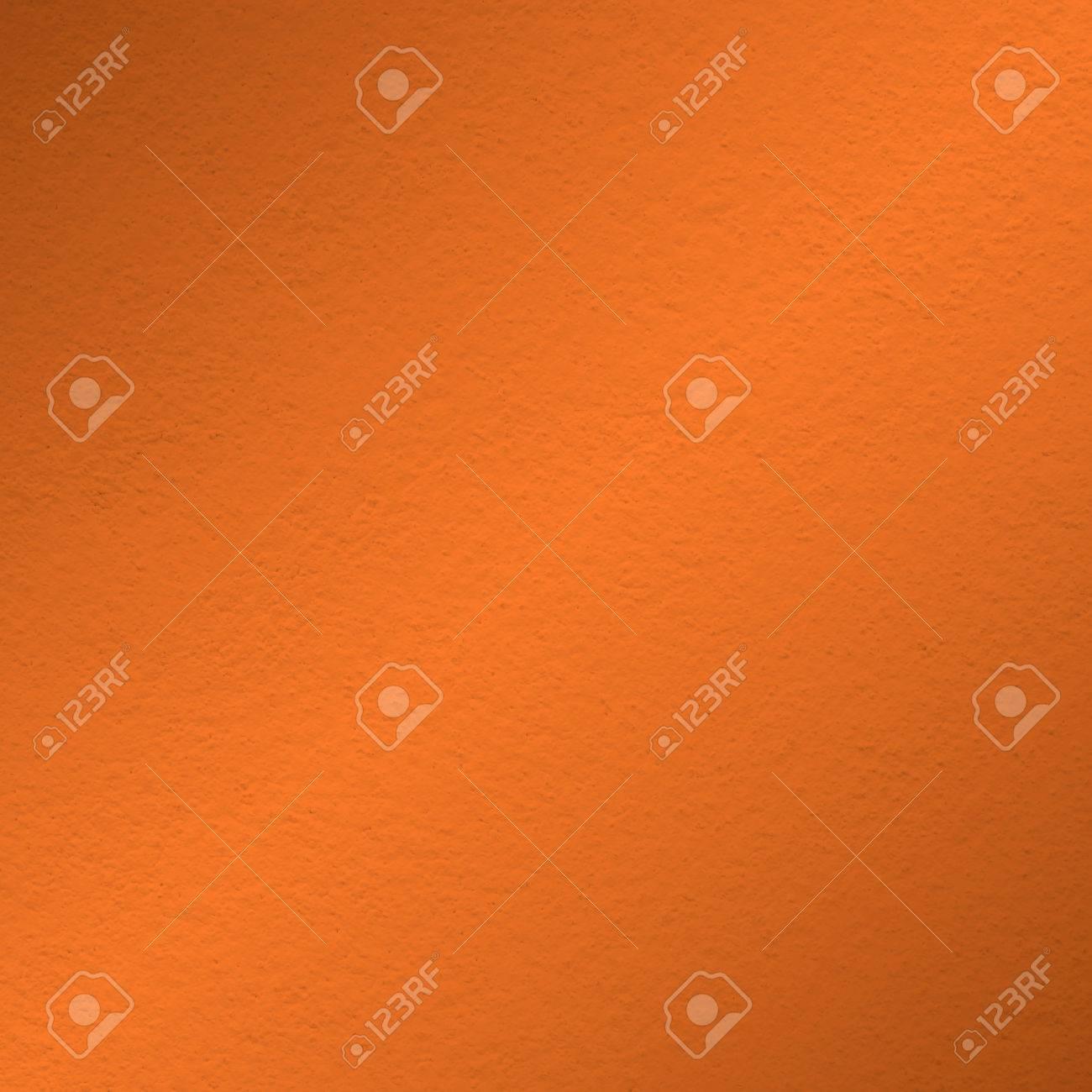 Orange La Texture De La Peinture Murale Avec De La Lumière à L