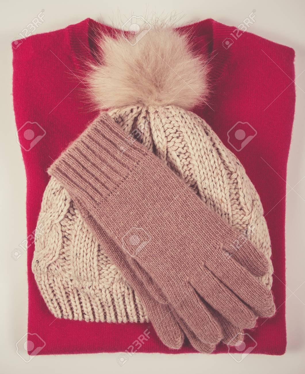 Stock Photo - Women s woolen hat 3389d16cce2