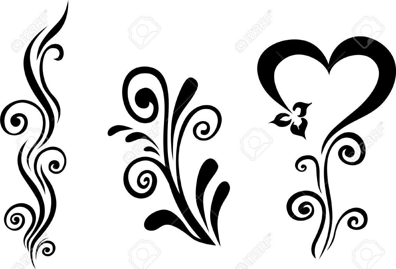 Line Drawing Of Flowers Clipart : Vector floral royalty free cliparts vectors and stock illustration