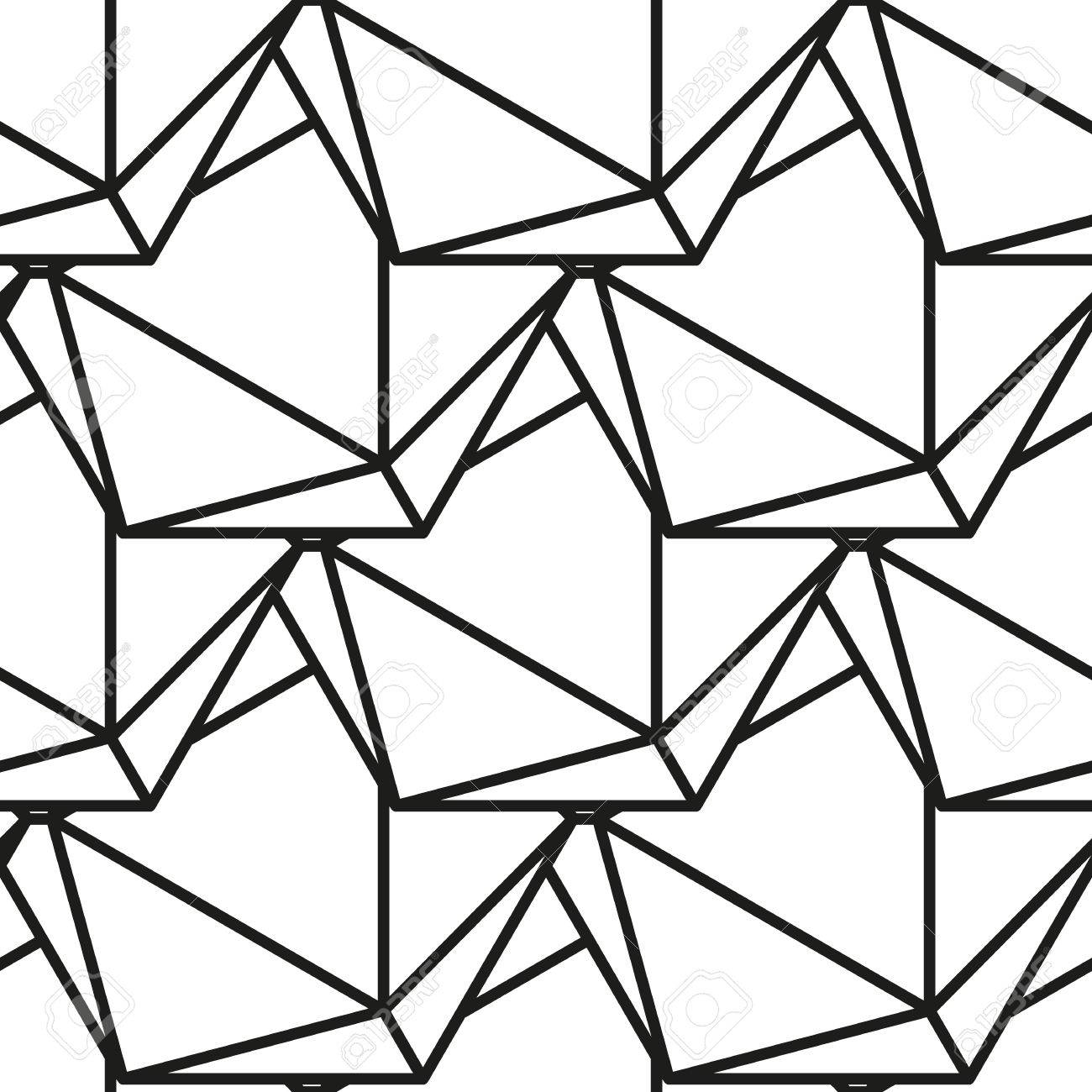 Patrón De Icosaedro, Sólidos Platónicos, Patrón Geométrico En Blanco ...