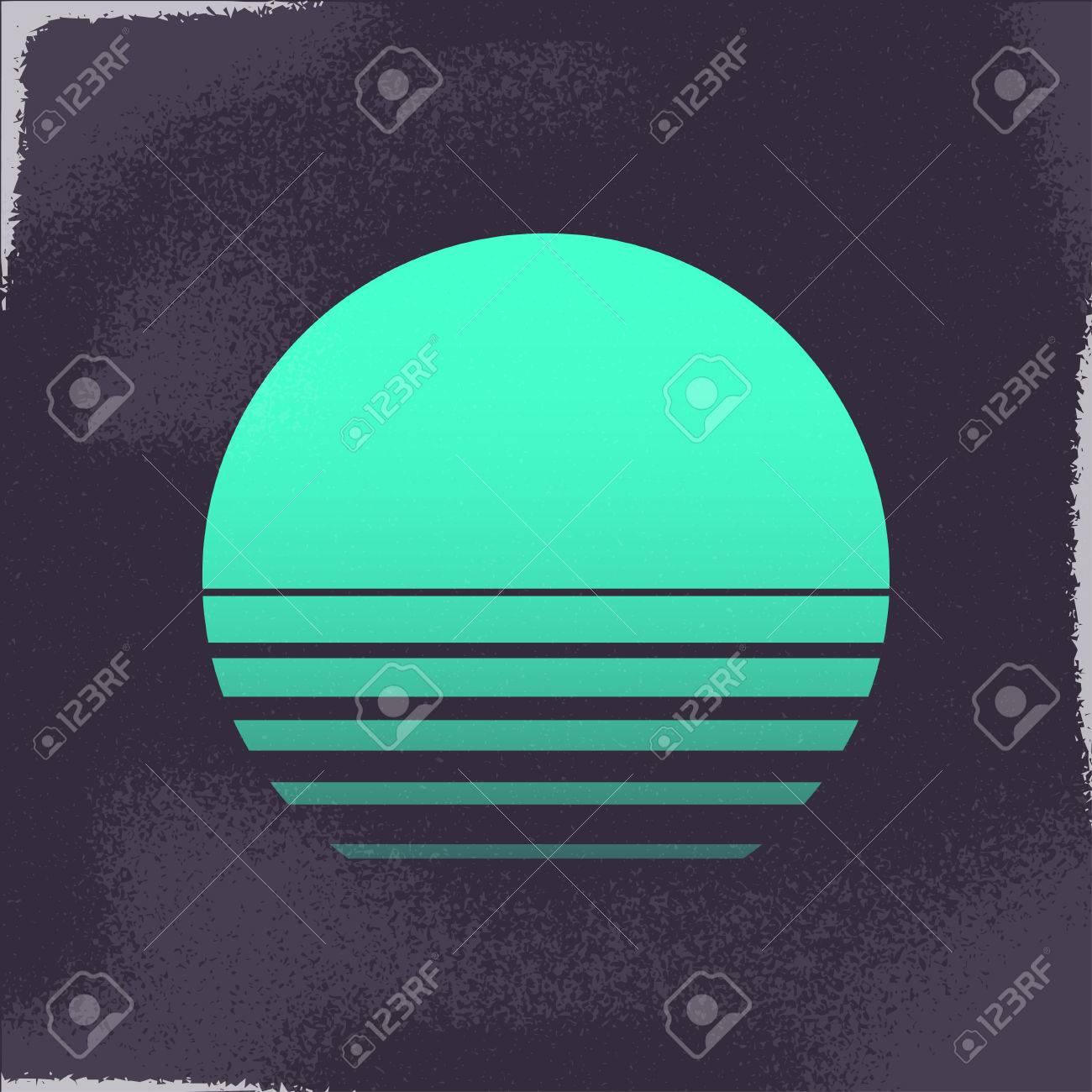 80s Retro Sci-Fi Background. - 61131809