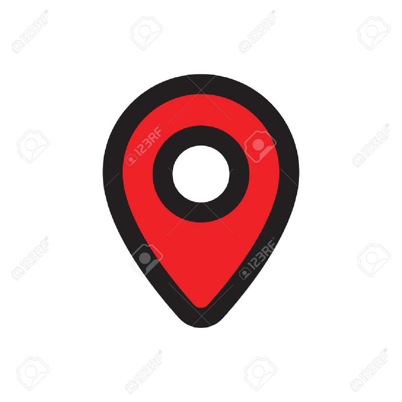 Map pointer icon red gps location symbol flat design style red gps location symbol flat design style map marker with buycottarizona Images