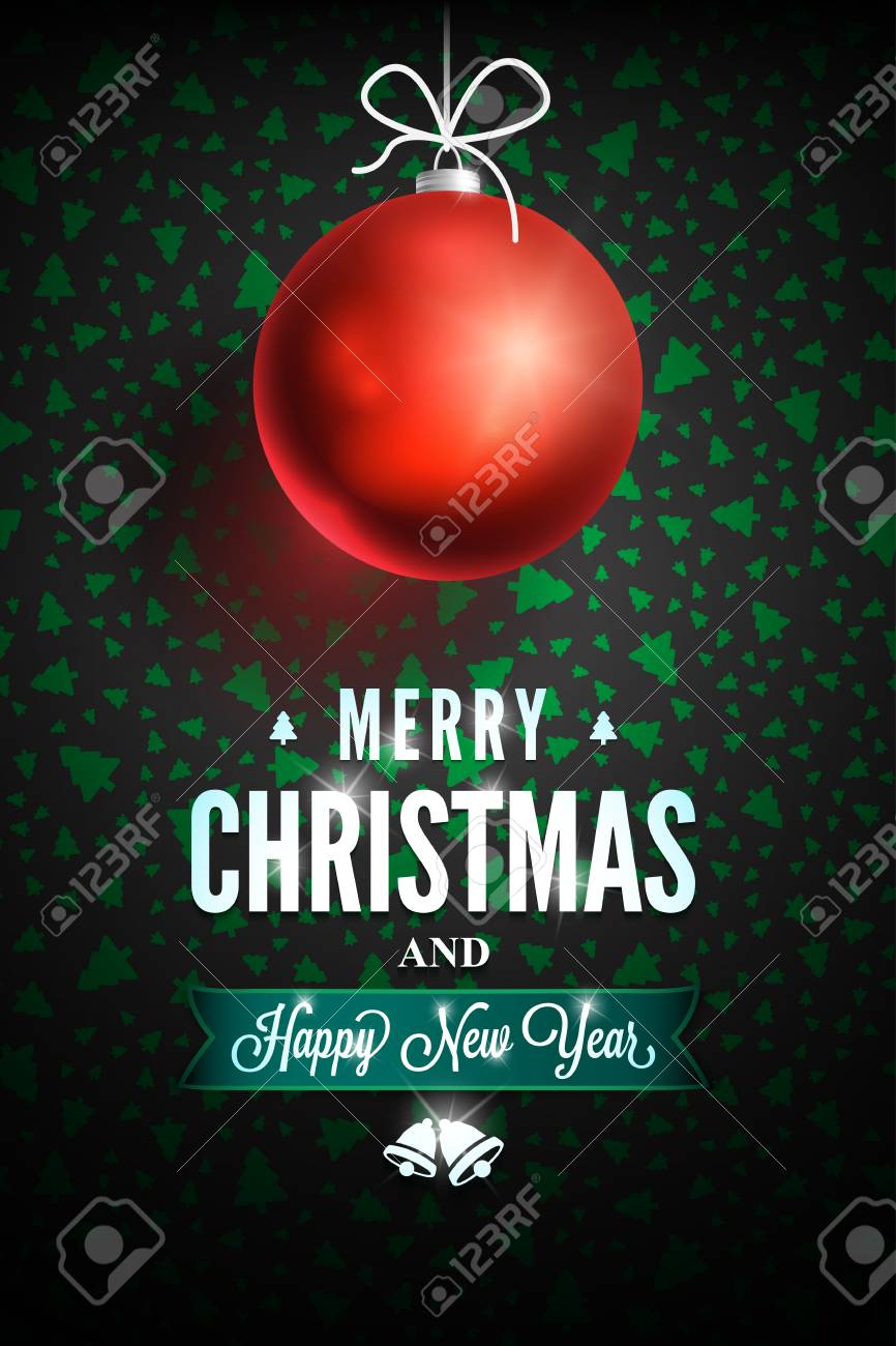 Message De Joyeux Noël Et Bonne Année Sur Fond Sombre Objets Dornements Liés De Noël Sur Fond De Couleur Carte De Voeux Prêt Pour Votre Conception
