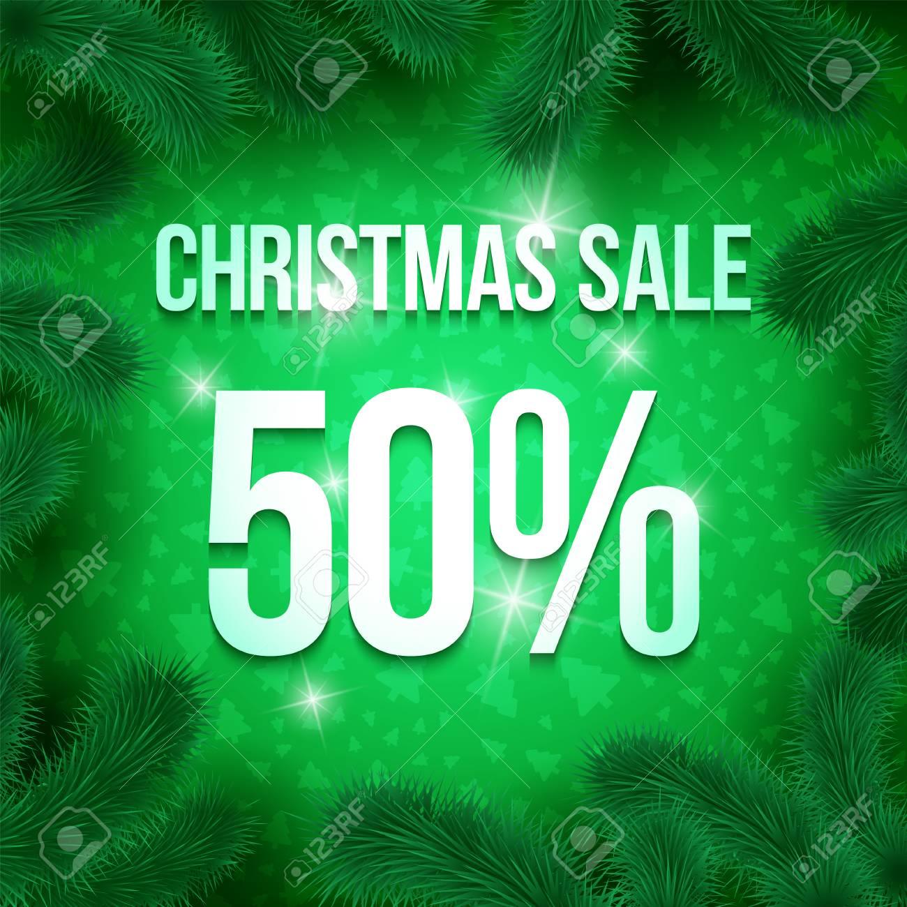 Weihnachtsverkaufszeichen-Vektoraufkleber 50-Prozent-Verkauf Mit ...