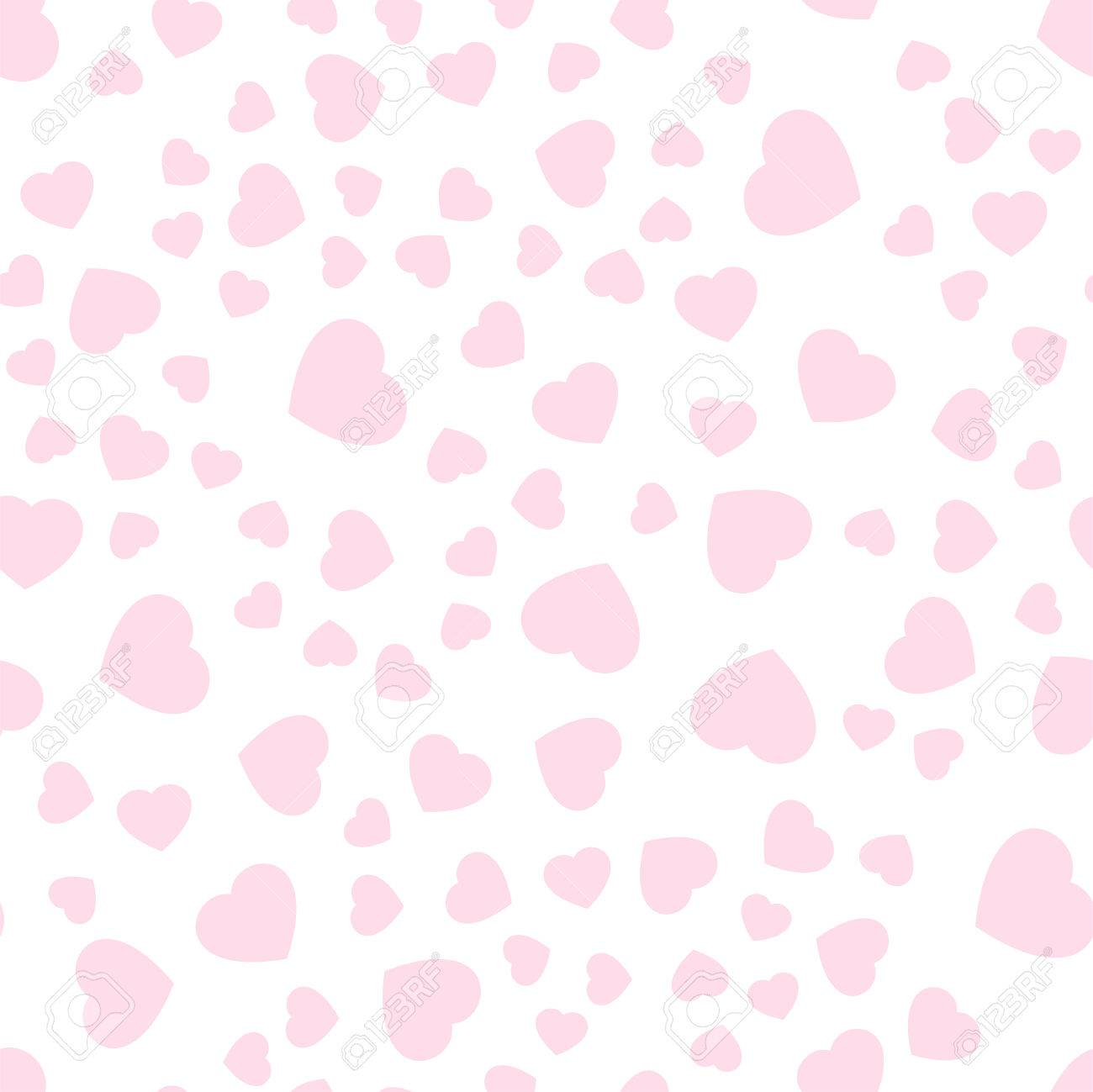 Seamless Patterns With Pink Hearts Valentine S Day Gift Wrap