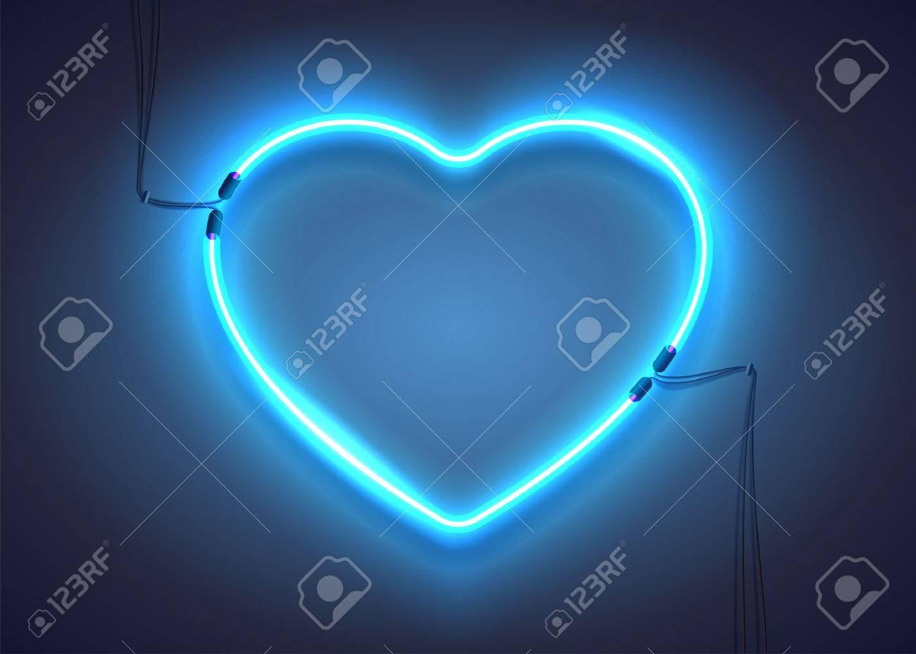 Bright heart neon sign retro blue neon heart sign on dark neon sign retro blue neon heart sign on dark background design buycottarizona Choice Image