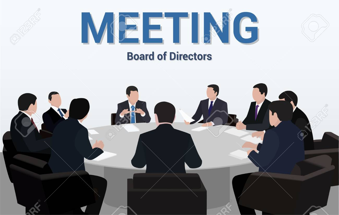 Beau Business Meeting.A Group Of Businessmen Is Negotiating For A Round Table  Stock Vector