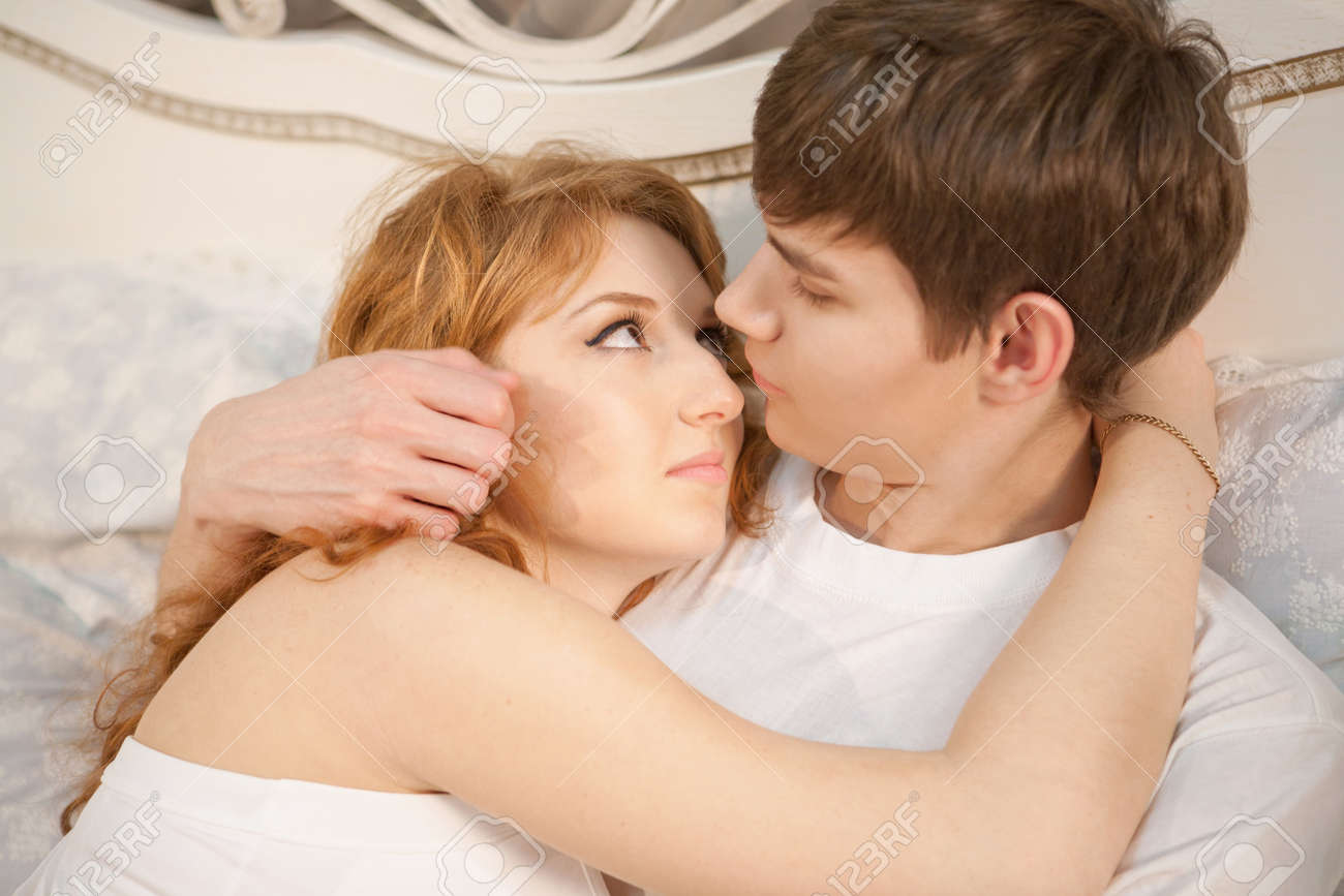 Romantic couple on the bed Stock Photo   12782894. Romantic Couple On The Bed Stock Photo  Picture And Royalty Free