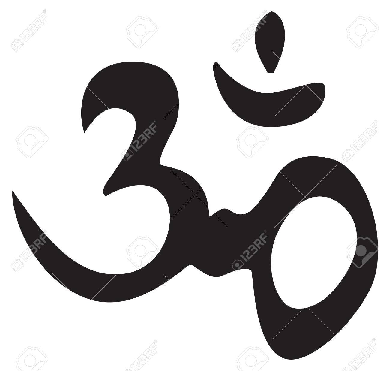 Symbole Hindu éternelle Om Signe Symbole De Tatouage Ou Des