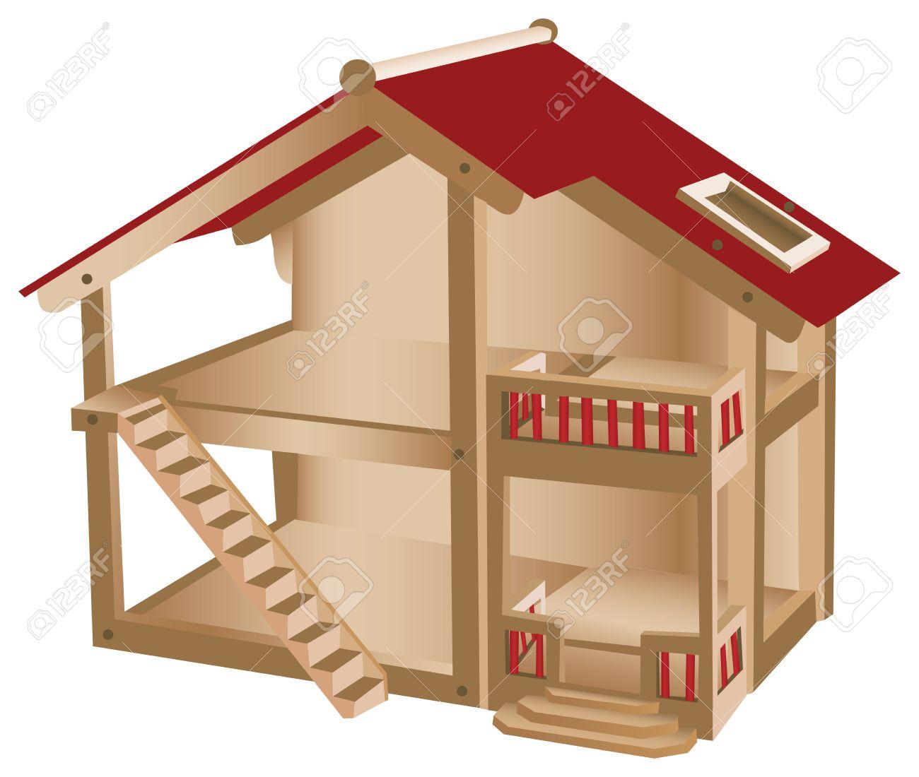 Кукольный домик чертёж