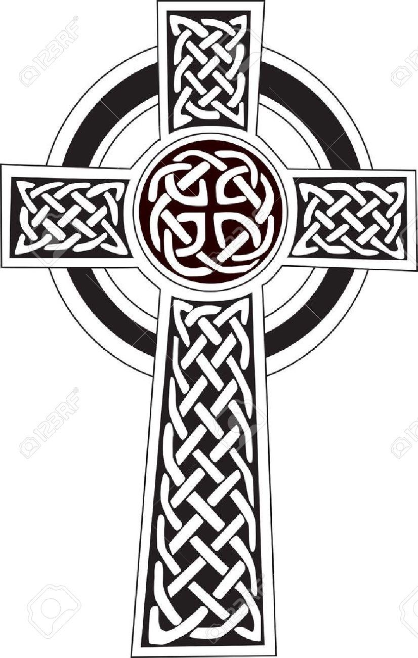 Complexe Croix Celtique Grande Symbole De Tatouage Peut Etre