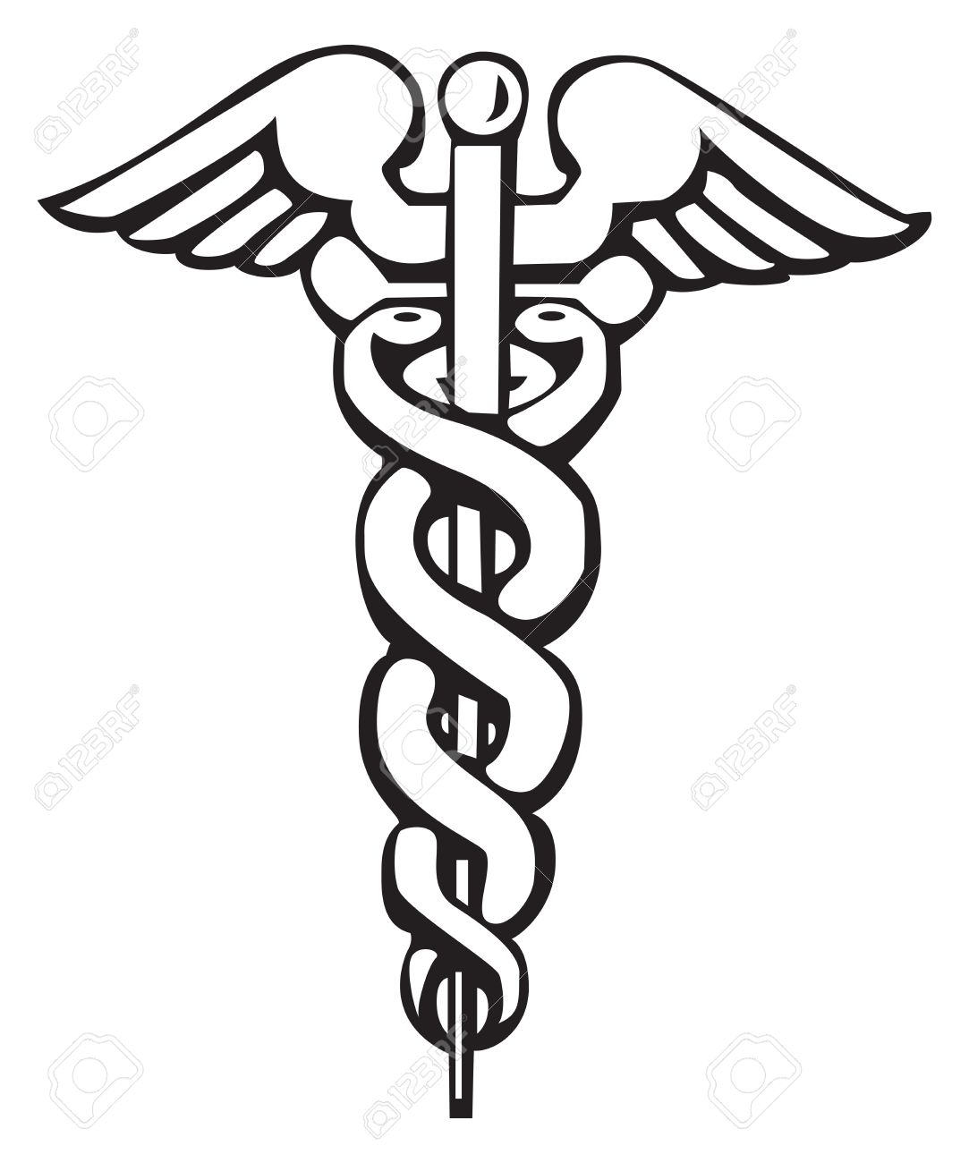 caduceus greek sign symbol for tattoo or artwork medical rh 123rf com medical symbol vector free medical snake symbol vector