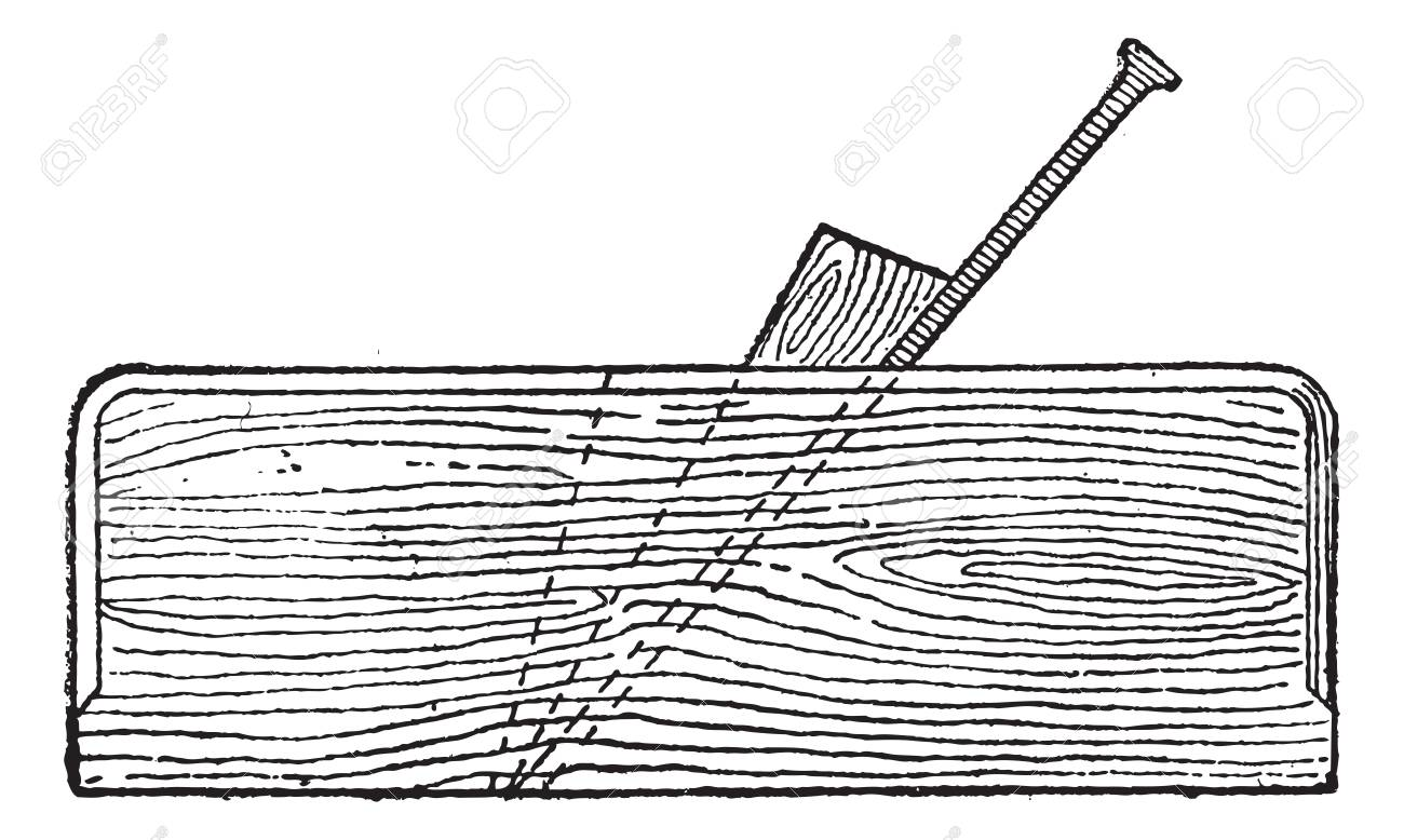 Old engraved illustration of Plane (tool) isolated on a white background. Dictionary of words and things - Larive and Fleury ? 1895 Stock Vector - 13766418