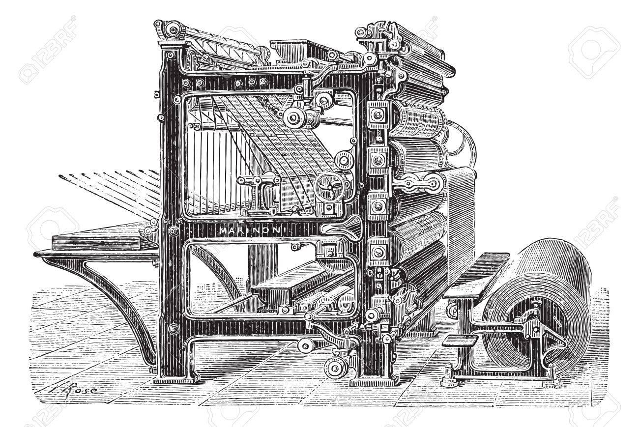 Resultado de imagen de rotativa antigua