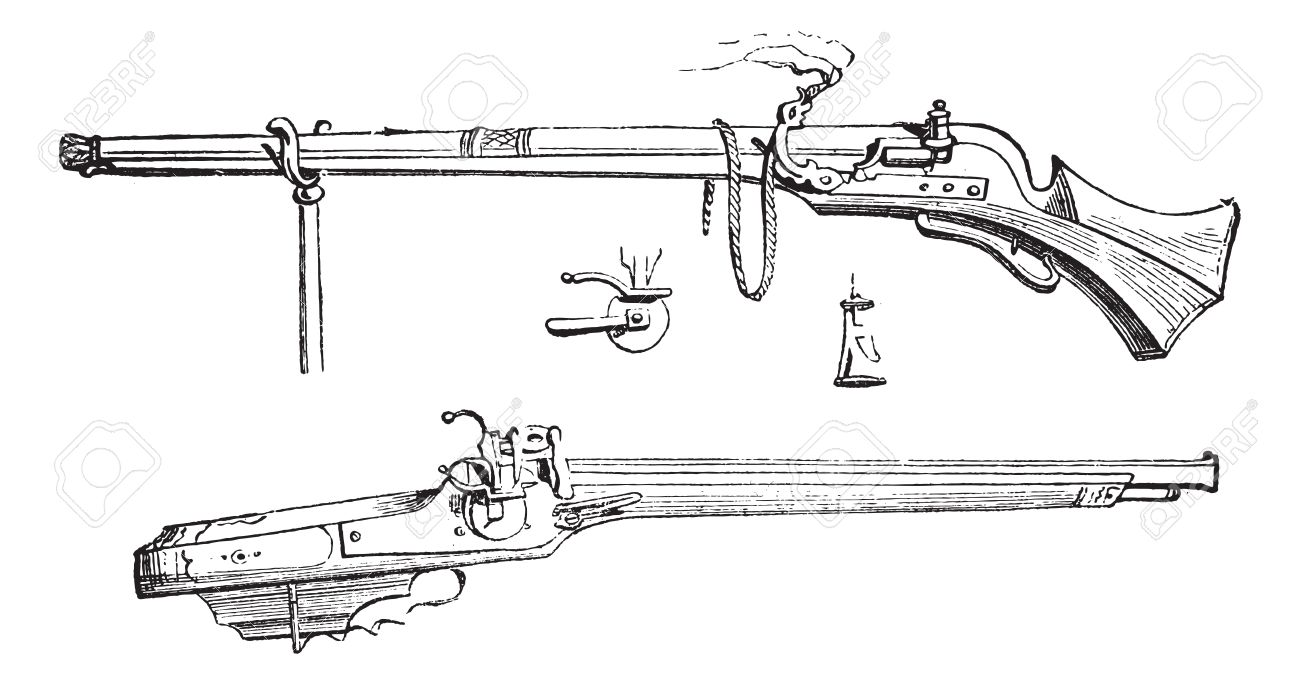 Old Engraved Illustration Of Arquebus Or Hook Tube Or Harquebus Royalty Free Cliparts Vectors And Stock Illustration Image 13766554