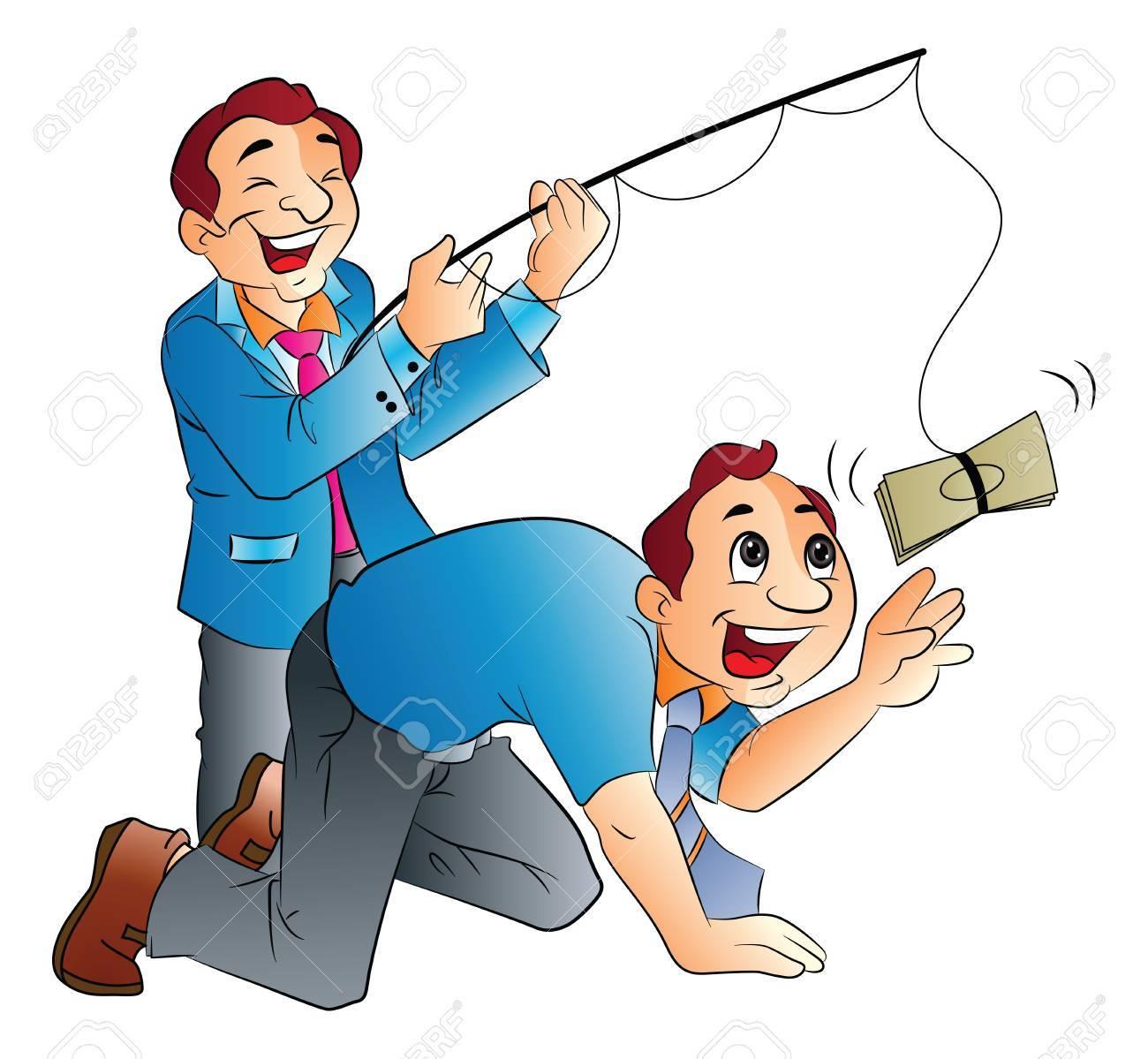 Fishing for Cash, vector illustration Stock Vector - 22066437