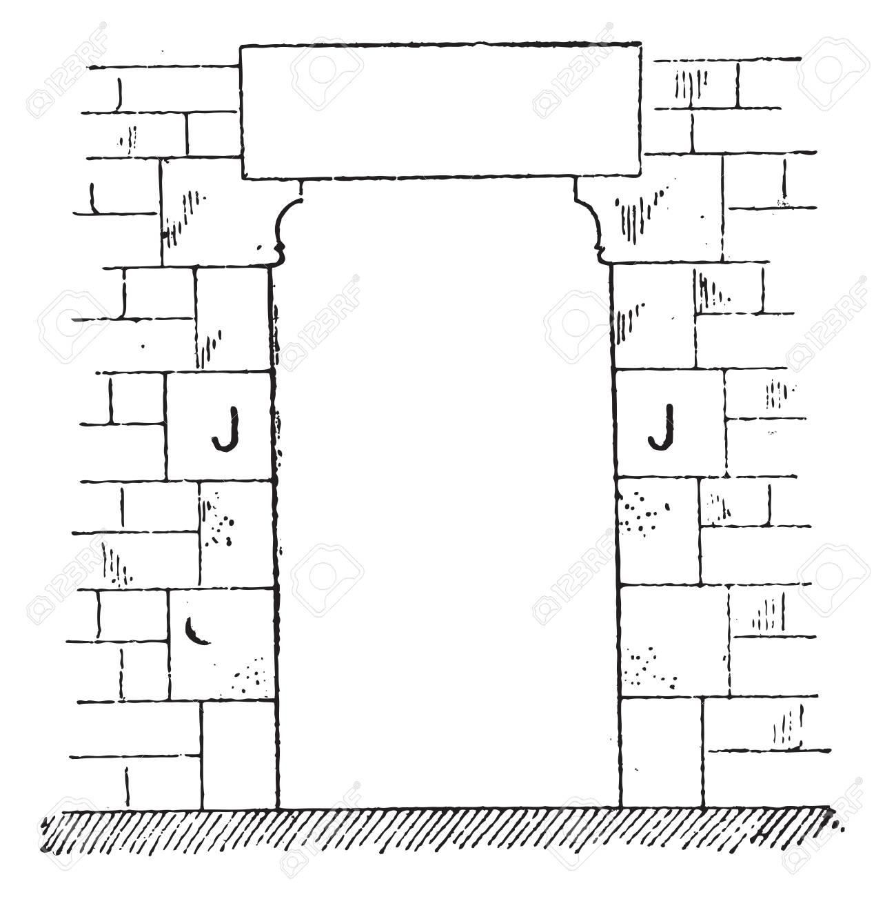 Marco De La Puerta, Añada Una Ilustración Grabada. Diccionario De ...