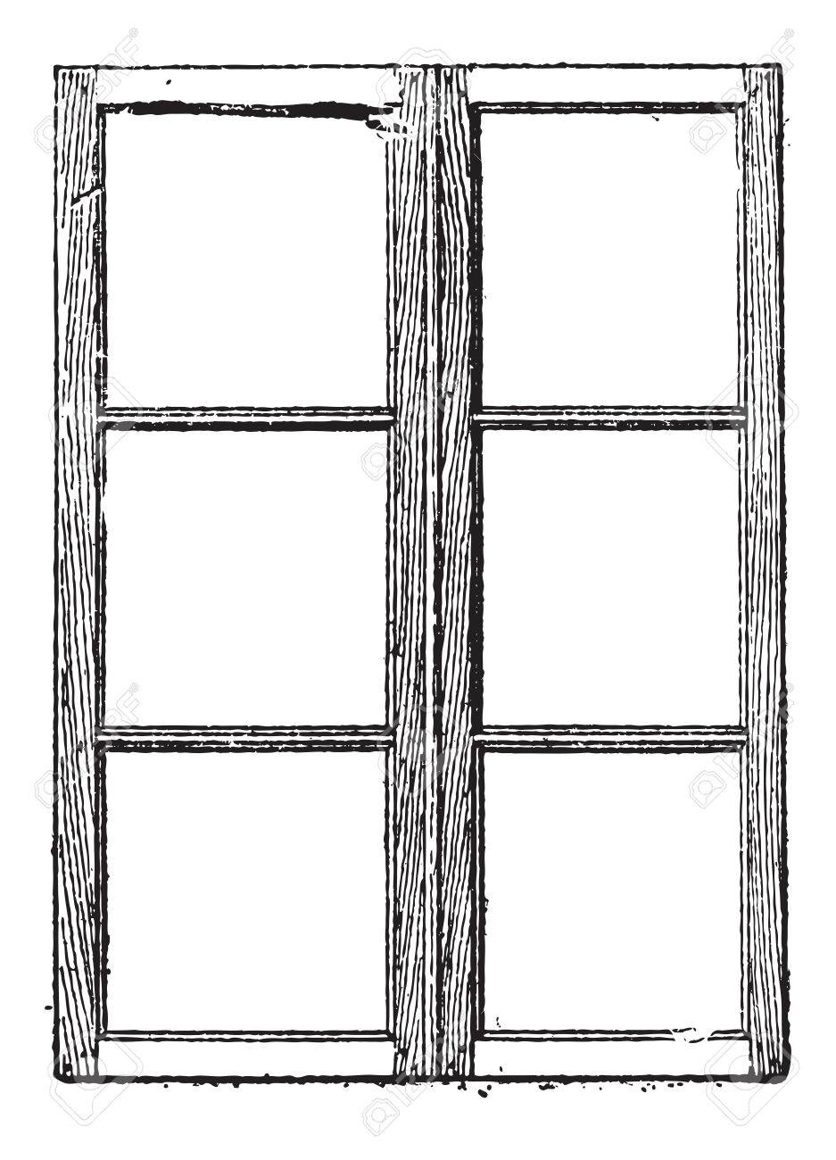 Muntin shown are muntins separating and holding the glass panes of a window vintage  sc 1 st  123RF Stock Photo & Muntin Shown Are Muntins Separating And Holding The Glass Panes ...