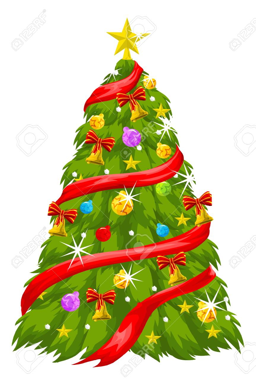 Christmas Tree Vector Image.Christmas Tree Vector Illustration