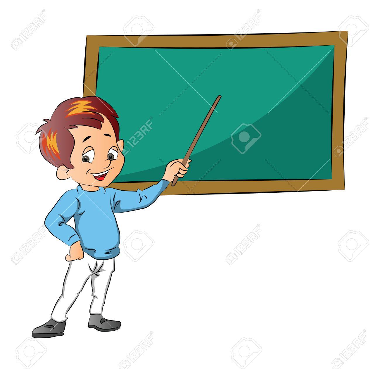 Boy Teaching, Vector Illustration Royalty Free Cliparts, Vectors ...