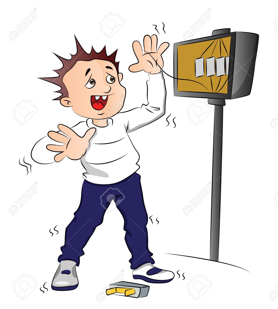 37764215 Vector illustration of man receiving an electric shock after short circuit in fuse box Stock Vector vector illustration of man receiving an electric shock after Cartoon Spine Nerves at bayanpartner.co