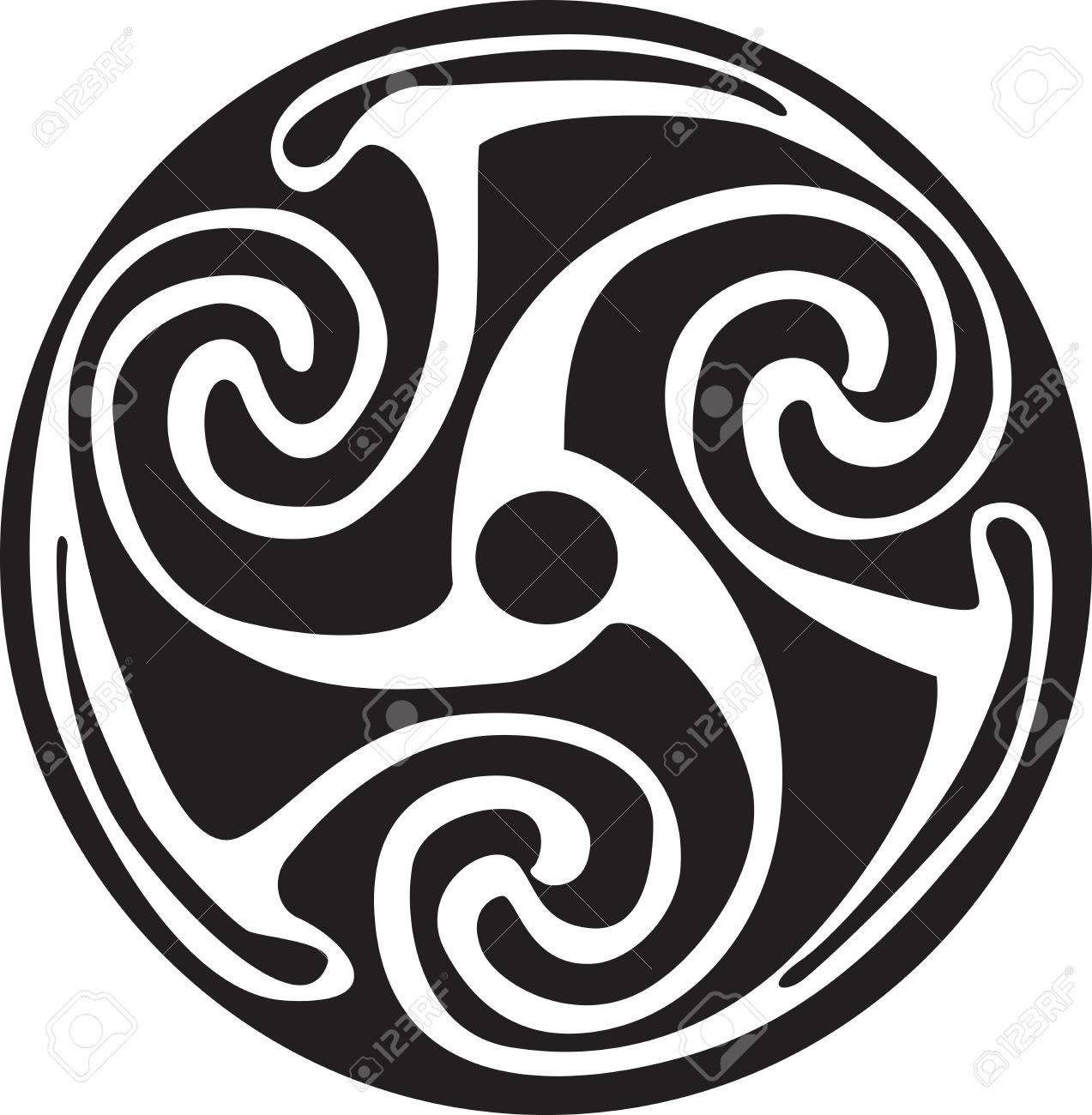 Complex Keltisches Symbol Groß Für Tattoo Kann Vollständig Geändert