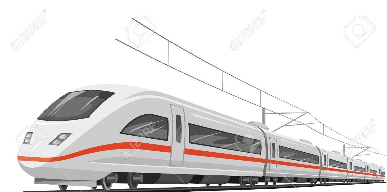 ケーブルと新幹線のベクトル イラストのイラスト素材ベクタ Image