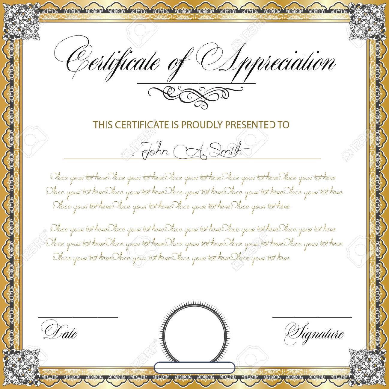 Certificado De La Vendimia De Apreciación Con Diseño Adornado ...