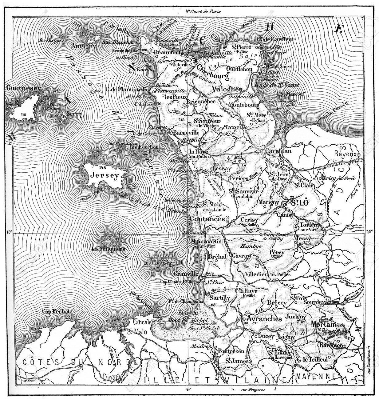 map of basse normandie