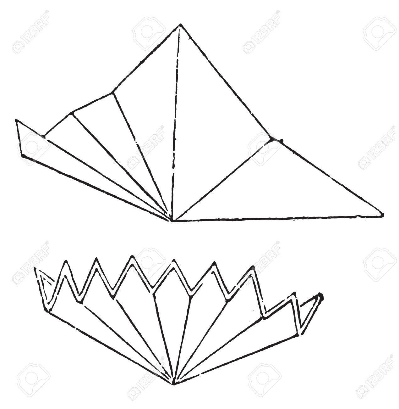 premiere way to fold the filter paper vintage engraved illustration
