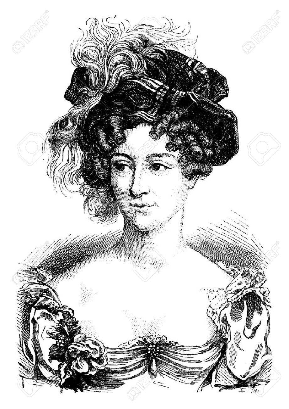 Duchess of Berry, vintage engraved illustration. History of France – 1885. - 41712910