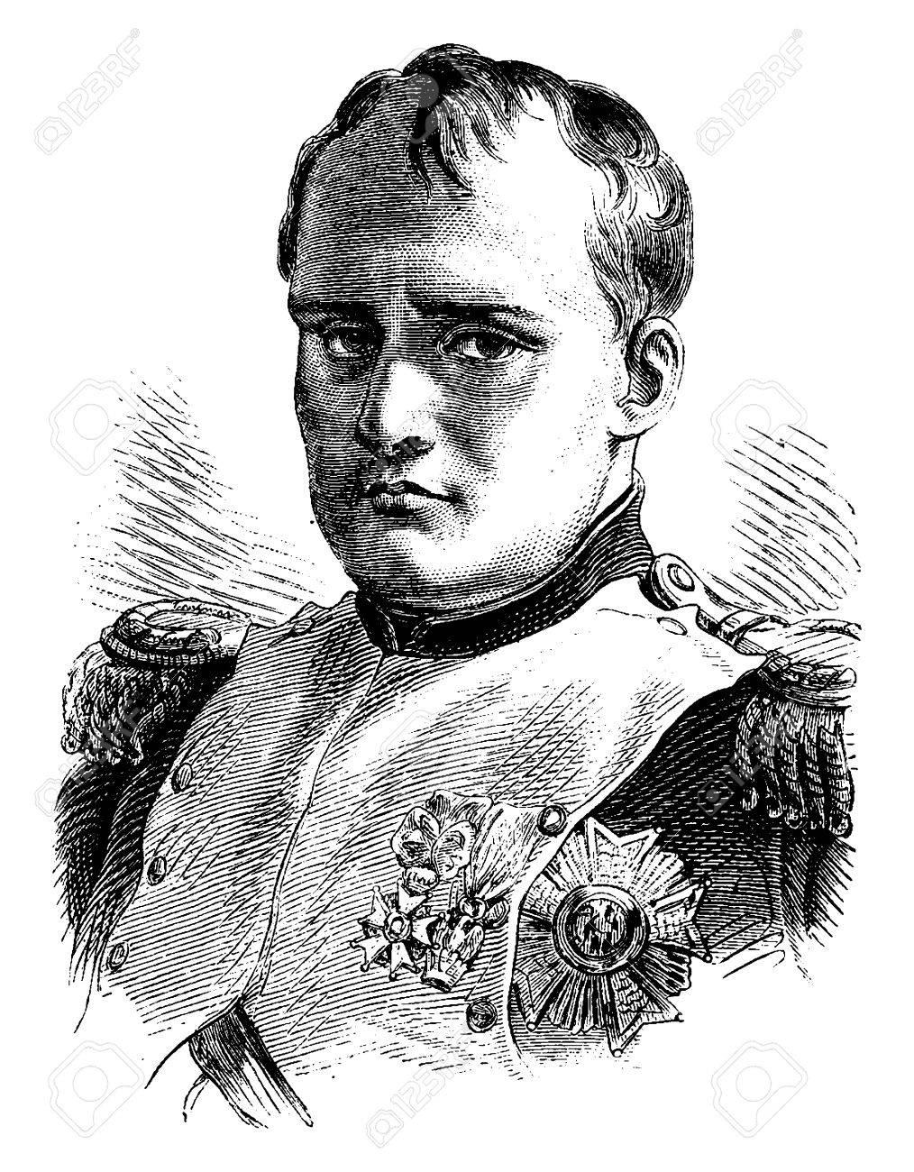 Napoleon, vintage engraved illustration. History of France – 1885. - 41713425