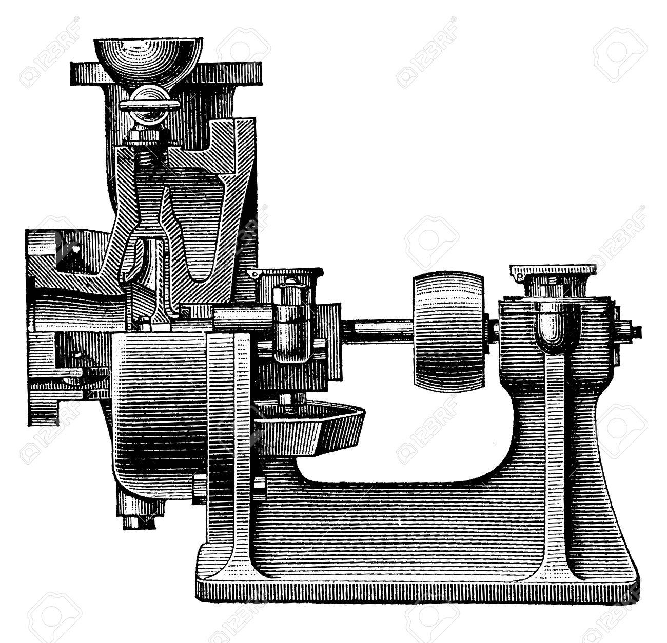 Heart centrifugal pump vintage engraved illustration industrial heart centrifugal pump vintage engraved illustration industrial encyclopedia e o lami ccuart Image collections