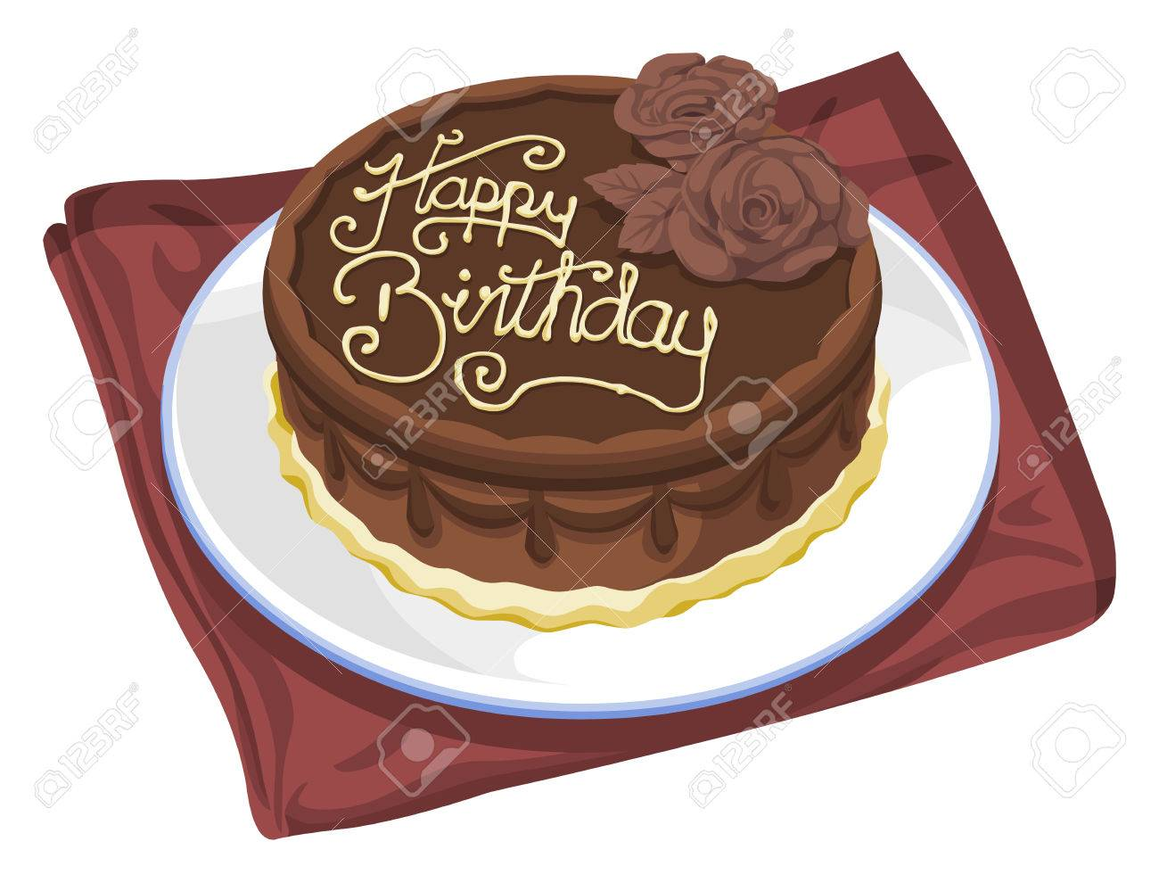 Vector illustration of birthday cake. - 41997542