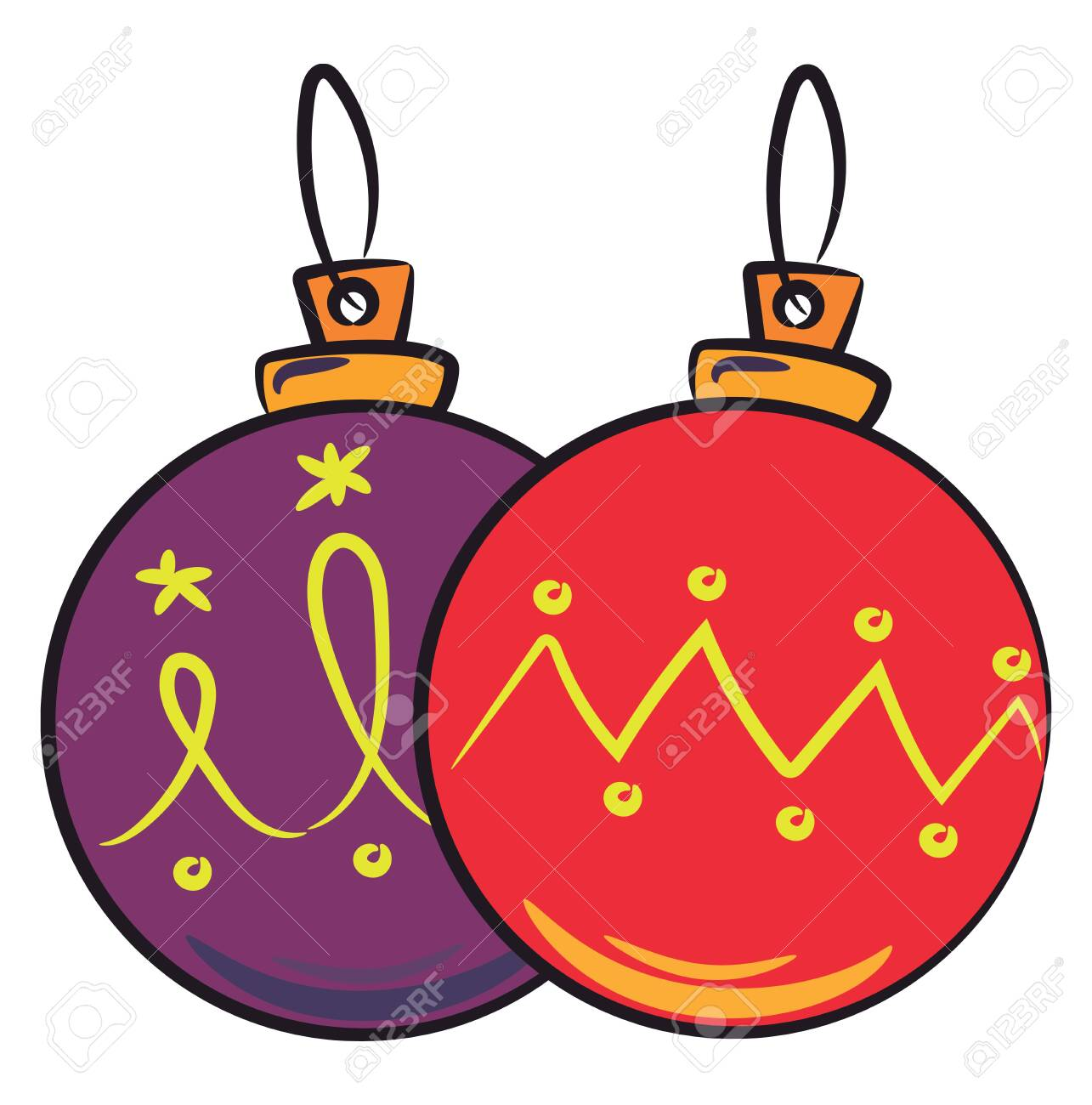 - Red & Purple Hanging Christmas Hanging Decoration Balls Known