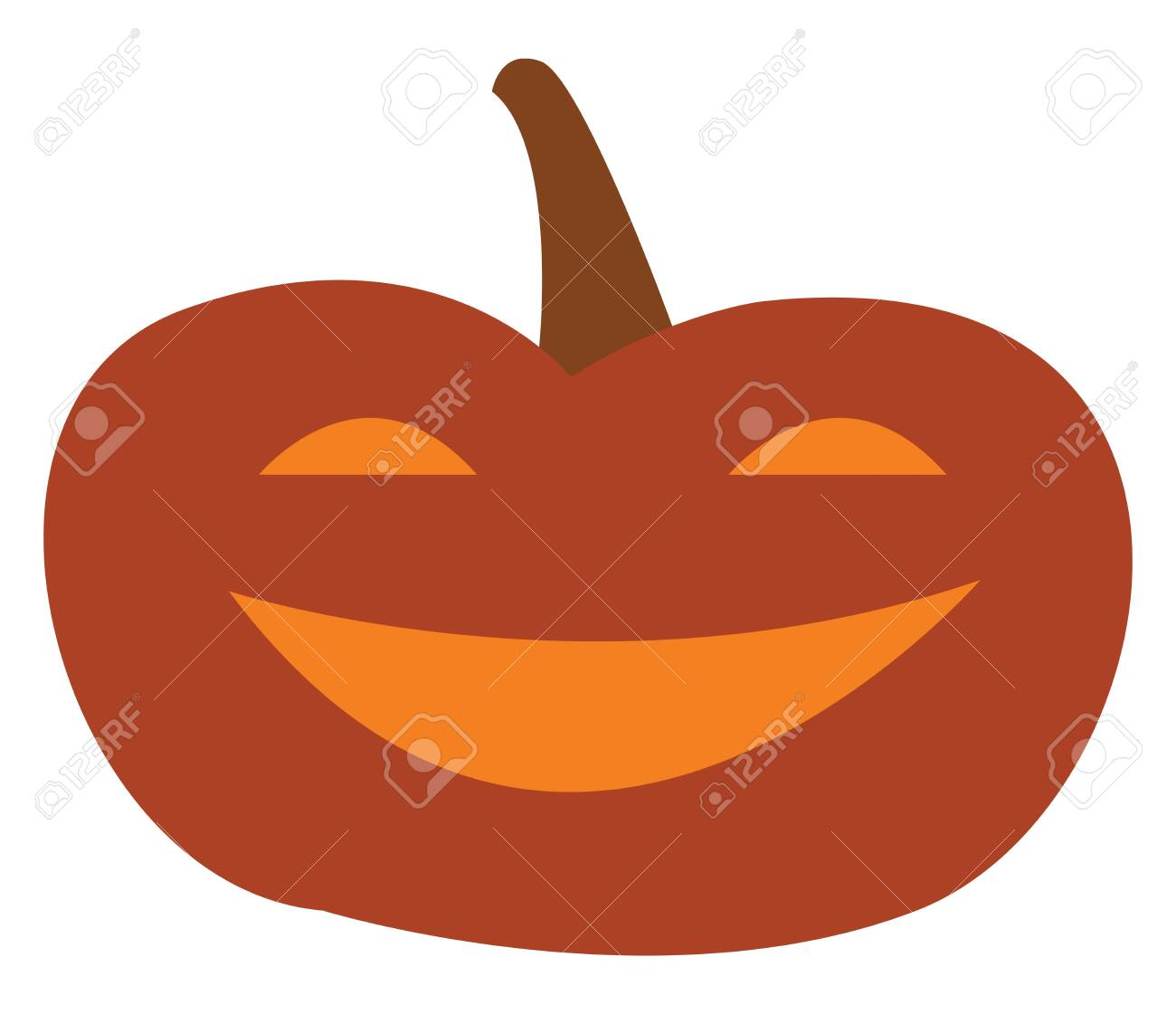 A Smiling Jack O Lantern Halloween Decoration Vector Color Drawing
