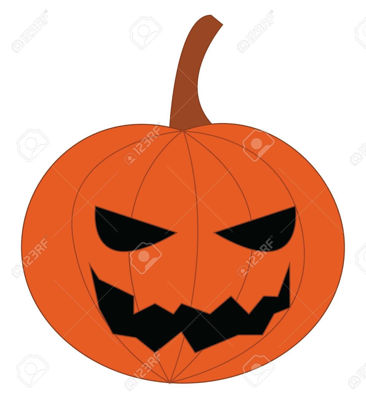 Jack O Lantern Halloween Decoration Craved From Pumpkin Vector