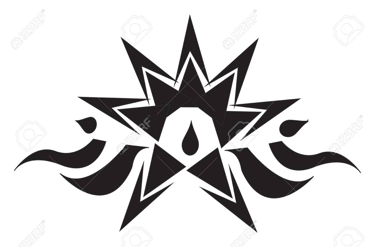 A Chinese Tattoo Design Vector Or Color Illustration Royalty Free Cliparts Vectors And Stock Illustration Image 123410840