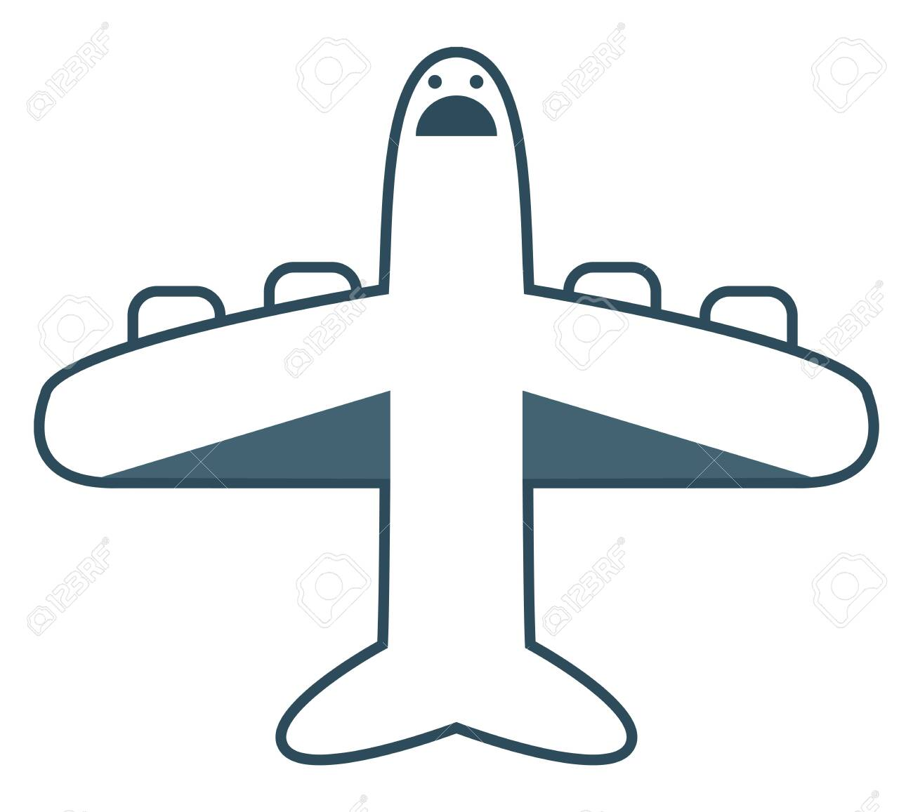 The Blue Plane The Powered Flying Vehicle With Fixed Wing Has Royalty Free Cliparts Vectors And Stock Illustration Image 132672062