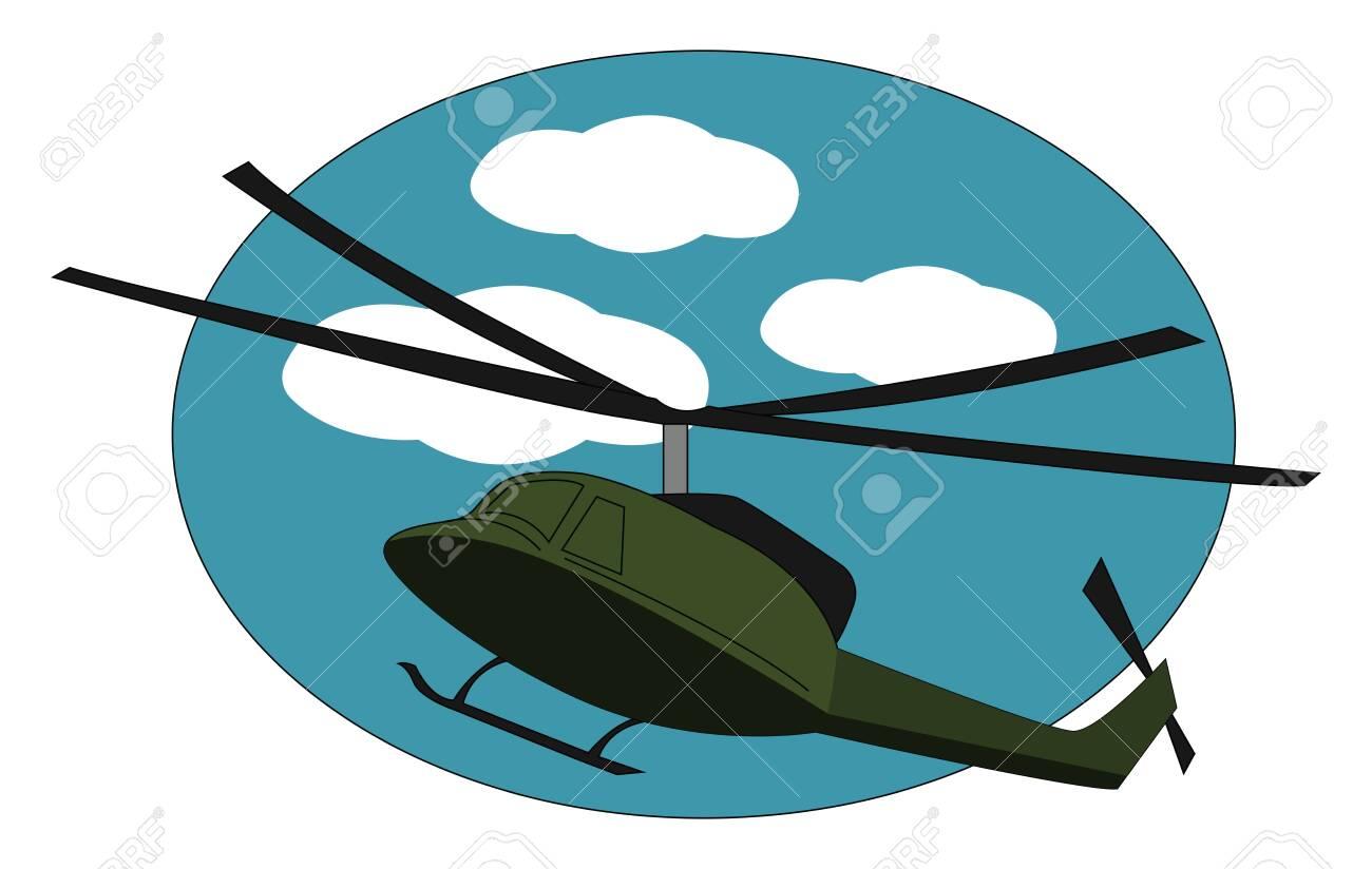 Green choper, illustration, vector on white background. - 132796784