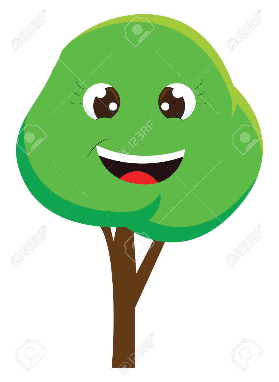 A Cartoon Of A Happy Tree With Big Eyes Vector Color Drawing Royalty Free Cliparts Vectors And Stock Illustration Image 132776715 ✓ free for commercial use ✓ high quality images. 123rf com