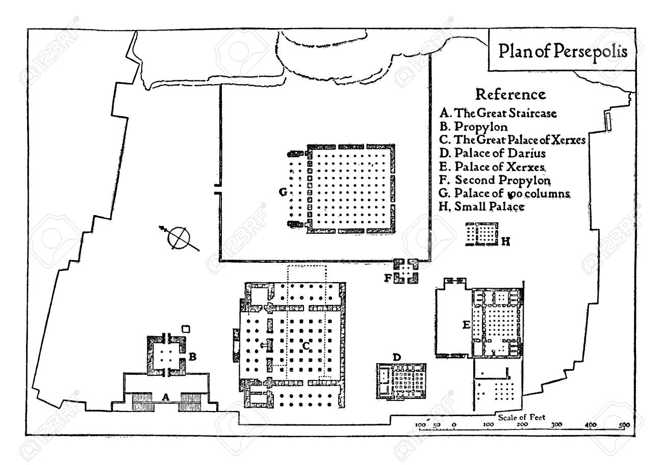 Plan Of Persepolis In 513 Bc Which The Palaces Of Persepolis Royalty Free Cliparts Vectors And Stock Illustration Image 132832067