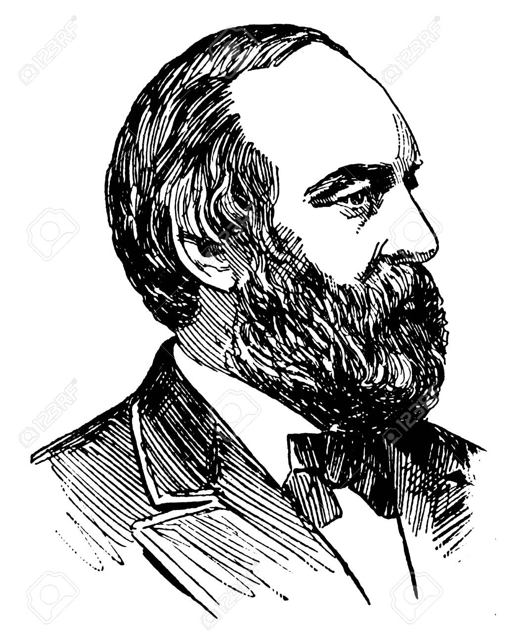 James A Garfield 1831 1881 He Was The 20th President Of The Royalty Free Cliparts Vectors And Stock Illustration Image 133483714