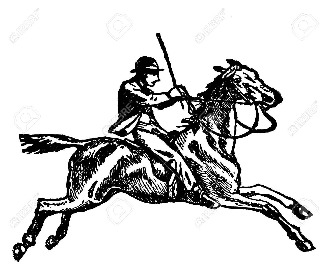 This Is An Awkward Position Of Horse Riding Vintage Line Drawing Royalty Free Cliparts Vectors And Stock Illustration Image 133063497