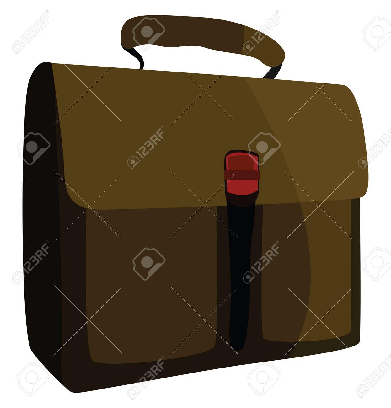 Work bag, illustration, vector on white background. - 152588369