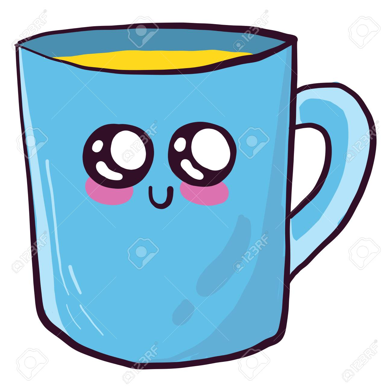 Cute cup , illustration, vector on white background - 152984707